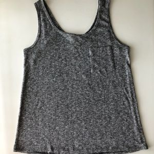 Forever 21 Gray Ribbed Tank Top
